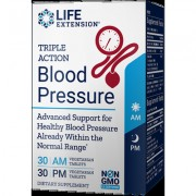Triple Action Blood Pressure, 60 Vegetarian Tablets, 30-Day Supply
