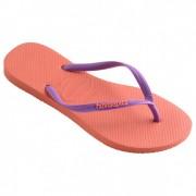 Havaianas - Women's Slim Logo - Sandalen maat 35/36 rood