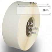 Etiketter på rulle, självhäftande, högblanka för bläck, 65-249,5 mm, 600 per rulle