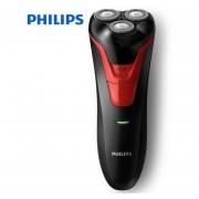 Afeitadora eléctrica Philips 100% FT688 recargable rotativa lavable con mango ergonómico cabezas flotantes 3D batería Ni MH(Philips-FT688)