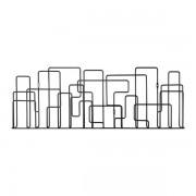 Maze City sunday magasinhållare svart, maze