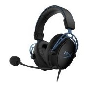 Kingston HyperX Gaming Headset, Cloud Alpha S, blue, 50mm drivers, USB Audio Control Mixer + 3.5mm jack, bass adjustment, headset (1m) + audio control box (2m), EAN: 740617289916 (HX-HSCAS-BL/WW)