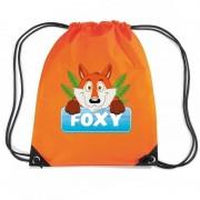Bellatio Decorations Foxy de Vos trekkoord rugzak / gymtas oranje voor kinderen