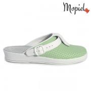 Papuci medicinali din piele naturala 74-04/verde-alb