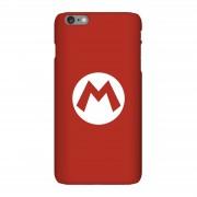 Nintendo Funda móvil Nintendo Mario Logo para iPhone y Android - iPhone 6 Plus - Carcasa rígida - Brillante