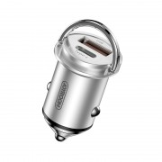 JOYROOM JR-C11 5A Type-C USB Smart Car Charger 45W PD QC 3.0 Charging - Silver