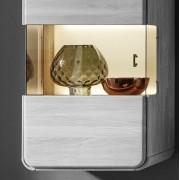 ROUND Glasrückwand beleuchtet 50 cm niedrig für Hängevitrine