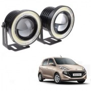 Auto Addict 3.5 High Power Led Projector Fog Light Cob with White Angel Eye Ring 15W Set of 2For Hyundai Santro New 2018