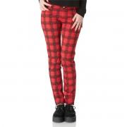 pantalon pour femmes JAWBREAKER - Rouge Tartan - TRA4516R
