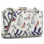 Дамска чанта KAZAR - Elodie 30884-01-A7 White/Red/Blue