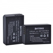 2 Pack LP-E12 LP E12 LPE12 Hoge Capaciteit Vervanging Batterijen (1800 mAh) voor Canon Rebel SL1, EOS-M, EOS M2, EOS M10 Mirrorless