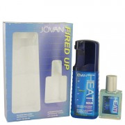 Jovan Heat Fired Up Cologne Body Spray 8.4 oz / 248.42 mL + After Shave/Cologne 2 oz / 59.15 mL Gift Set Men's Fragrances 540192