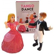 Dancing Couple Angel Doll and Prince Tango Dance with Light and music