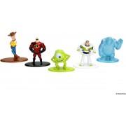 NANO METALFIGS - Disney Pixar Pack of 5 Figures (Mr,Incredible, Buzz, Woody, Sulley, Mike Wozowski)