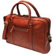 Designer Fashion House 17 inch inch Expandable Laptop Messenger Bag(Brown)