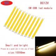 JRLED 100 * 8 mm 5W-16 COB Modulos de LED blanco calido (DC 12 ~ 14V / 10 PCS)