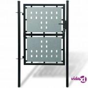 vidaXL Crna vrata za ogradu 100 x 250 cm