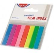 Index plastic autoadeziv 8mm x 45 mm neon 9 culori