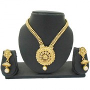 My Design Gold Plated Kundan Bridal Jewellery Necklace Set For Women And Girls