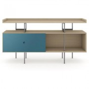 BDI MargoC Console Drift Oak w/ Marine Door