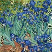 D.I.19-26 Üveg falióra 30x30cm, Van Gogh:Iriszek