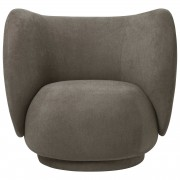 Ferm Living Rico Brushed fauteuil Brown