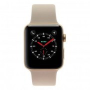 Apple Watch Series 3 carcasa de aluminiooro 42mm con con correa deportiva rosa