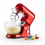 Bella Rossa 2G, кухненски робот, 1200 W, 2,5/5,2 l, стъклена купа, червен цвят