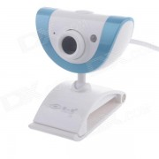 Webcam First Sight Z5 8.0MP HD con luz de vision nocturna / microfono - blanco + azul