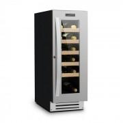 Klarstein Vinovilla Smart, borhűtő, hűtőszekrény, 50 l/20 palack, üvegajtó, rozsdamentes acél (HEA10-VinovillaSmart)