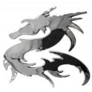Embléma, króm sárkány 35205