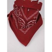 Donkerrode bandana /boerenzakdoek