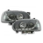 FK-Automotive faro luci di marcia diurna Daylight VW Golf 3 anno di costr. 91-97 nero