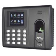 Checador de Huella y Tarjetas para Tiempo y Asistencia con Batería de Respaldo ZKTECO K-30 / Reportes directo a Excel por USB (Función SSR) / Salida de relevador para cerradura
