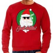 Bellatio Decorations Foute Kersttrui just chillin rood voor heren