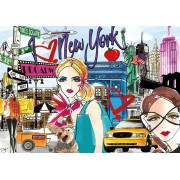 Puzzle Educa - Take me to New York, 500 piese, include lipici puzzle (17649)