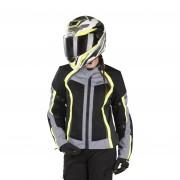 IXS Chaqueta de Moto iXS Sport Andorra-Air Mujer Negro-Gris-Amarillo
