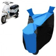KAAZ Blue with Black Two Wheeler Cover For Electric Hero Electric Bikes