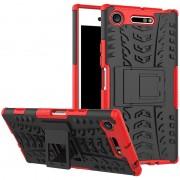 Capa Híbrida Antiderrapante para Sony Xperia XZ1 - Vermelho / Preto