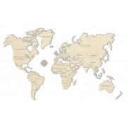 Wereldkaart - Legpuzzel Wooden World Map Large | Wooden City