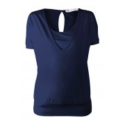Queen mum T-shirt - Dark Blue - Positiekleding