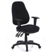 Hjh Sedia ergonomica ZENIT PRO, omologata 8h uso, regolabile, in nero