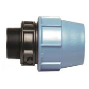 Andet Plaströrskoppling Rak utvändig gänga PN10 20xR20