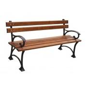 Parková lavice 180 cm s područkami, litina, olše, lakovaná - 180