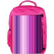 Snoogg Eco Friendly Canvas Multicolor Design Designer Backpack Rucksack School Travel Unisex Casual Canvas Bag Bookbag Satchel 5 L Backpack(Pink)
