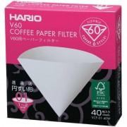 Hario V60 kaffefilter storlek 01. 40 st