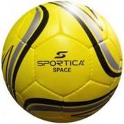 Minge de fotbal Sportica SPACE (Galben/Negru/Gri)