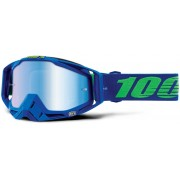 100% Racecraft Extra Dreamflow Motocross Goggles Green Blue One Size