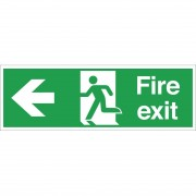 Nisbets Fire Exit Sign Arrow Left