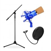 Stage & Studio Microphone Set CMBG001 with Microphone, Tripod and Microphone Shield